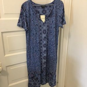 NWT Lucky Blue and Pink Patterned Dress